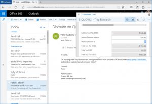 Outlook integration NAv 2017 pop up